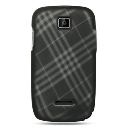 DreamWireless CRMOTTHEORYSMDLCK Motorola Theory Crystal Rubber Case, Smoke Diagonal Checker
