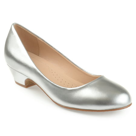 Silver Strappy Shoe - Brinley Co. Women's Classic Faux Leather Comfort-sole Heels