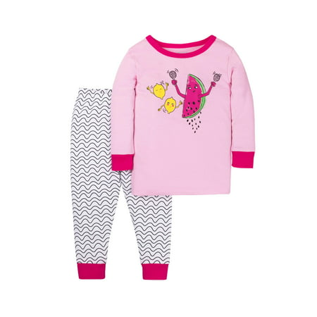 Little Star Organic - Baby Toddler Girl Snug Fit Pajamas aa6b593d3