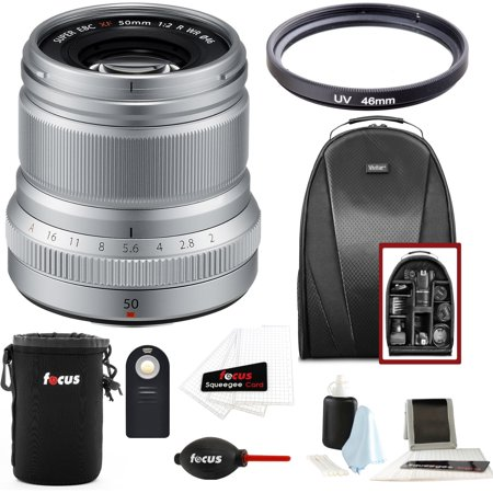 Fujifilm XF50mmF2 R WR Lens (Silver) w/Focus Accesory