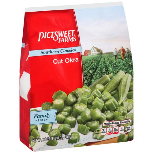 Pictsweet All Natural Cut Okra, 24 oz