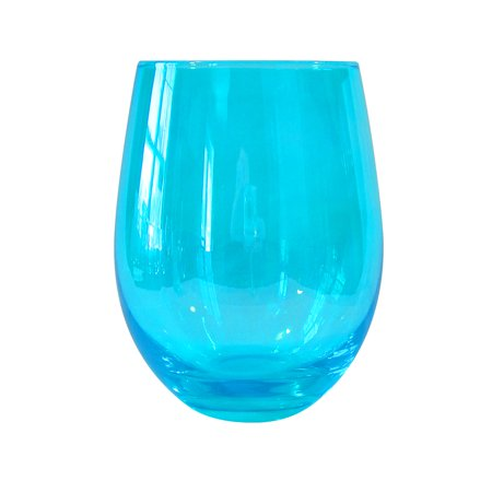 Turquoise Wine - Artland Luster Turquoise 16 Ounce Stemless Wine Glass