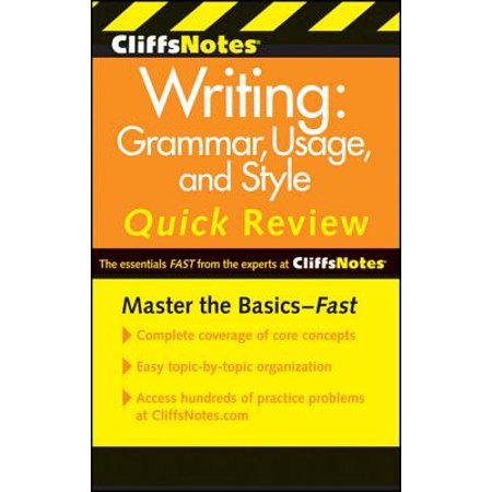 CliffsNotes Writing: Grammar, Usage, and Style Quick Review, 3rd