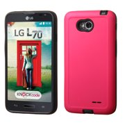 For Optimus Exceed 2 L720 VS450PP MS323 Hot Pink/Black Advanced Armor Case Cover