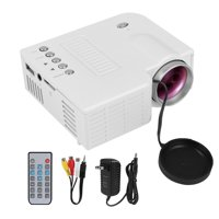 LHCER Portable Home Theater LED Mini Wired Projector HD 1080P VGA USB HDMI 110-240V US/UK/EU/AU Plug , Wired Projector, HD 1080P Projector