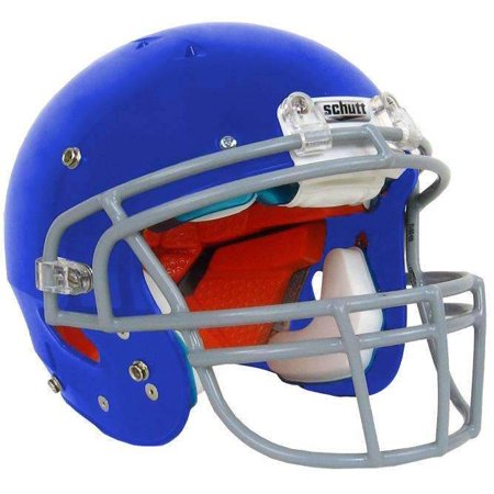 Blue Football Helmet (Schutt Youth Recruit Hybrid Football)