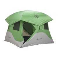 Gazelle Tents T4 8' Heavy Duty Pop Up Hub 4 Person Outdoor Camping Tent, Green