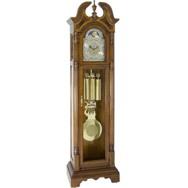 Hermle 010976N91161 Triple Chiming Mechanical Hallmark Grandfather Clock Cherry by Hermle
