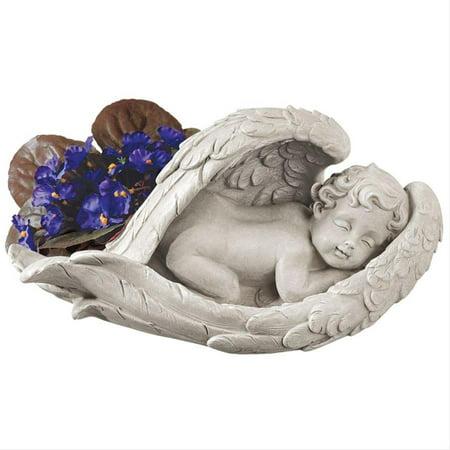 Design Toscano Cradled in Hope Cherub Statue (Seated Cherub)