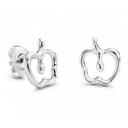 kids Cut Out Apple Stud earrings 925 Sterling Silver 15mm](Apple Cut Out)
