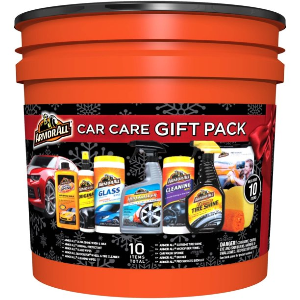 Armor All Car Care Gift Pack 10pc Bucket