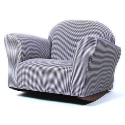 Fantasy Furniture Roundy Gingham Rocking Kids Chair
