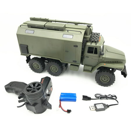 Incident Command Vehicles (WPL B36 Ural 1/16 2.4G 6WD Rc Car Military Truck Rock Crawler Command Communication Vehicle RTR Toy RTR type 1:16)