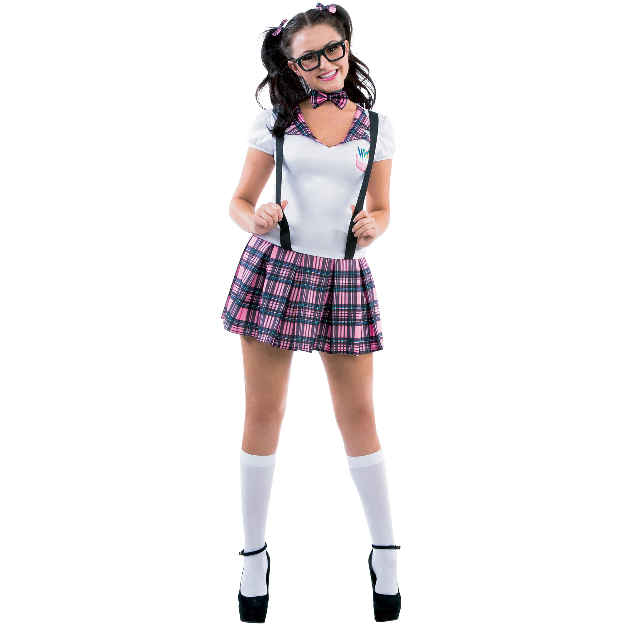 Nerdy Girl Adult Halloween Costume  sc 1 st  Walmart : nerd costume for girl  - Germanpascual.Com