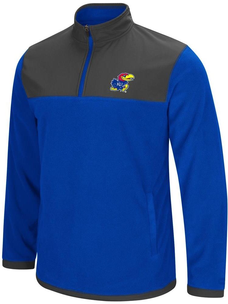 Kansas Jayhawks KU Men's Full Zip Fleece Jacket by Colosseum