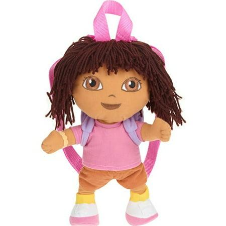 Plush Backpack - Dora the Explorer - Pink Little Girls New - The Explorer Girls