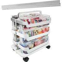 Deflecto, Stackable Caddy Organizer Caddy Bundle, 1 Each, White