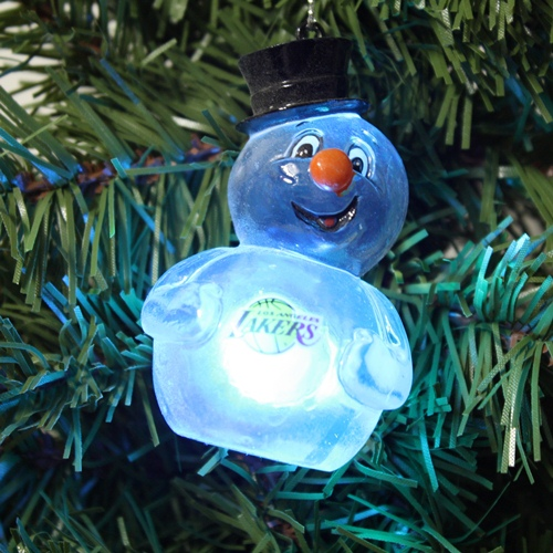 Los Angeles Lakers 2012 Light Up Snowman Ornament