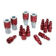 """Legacy A73458D D 14Pc 1/4"""" Red Coupler & Plug"""