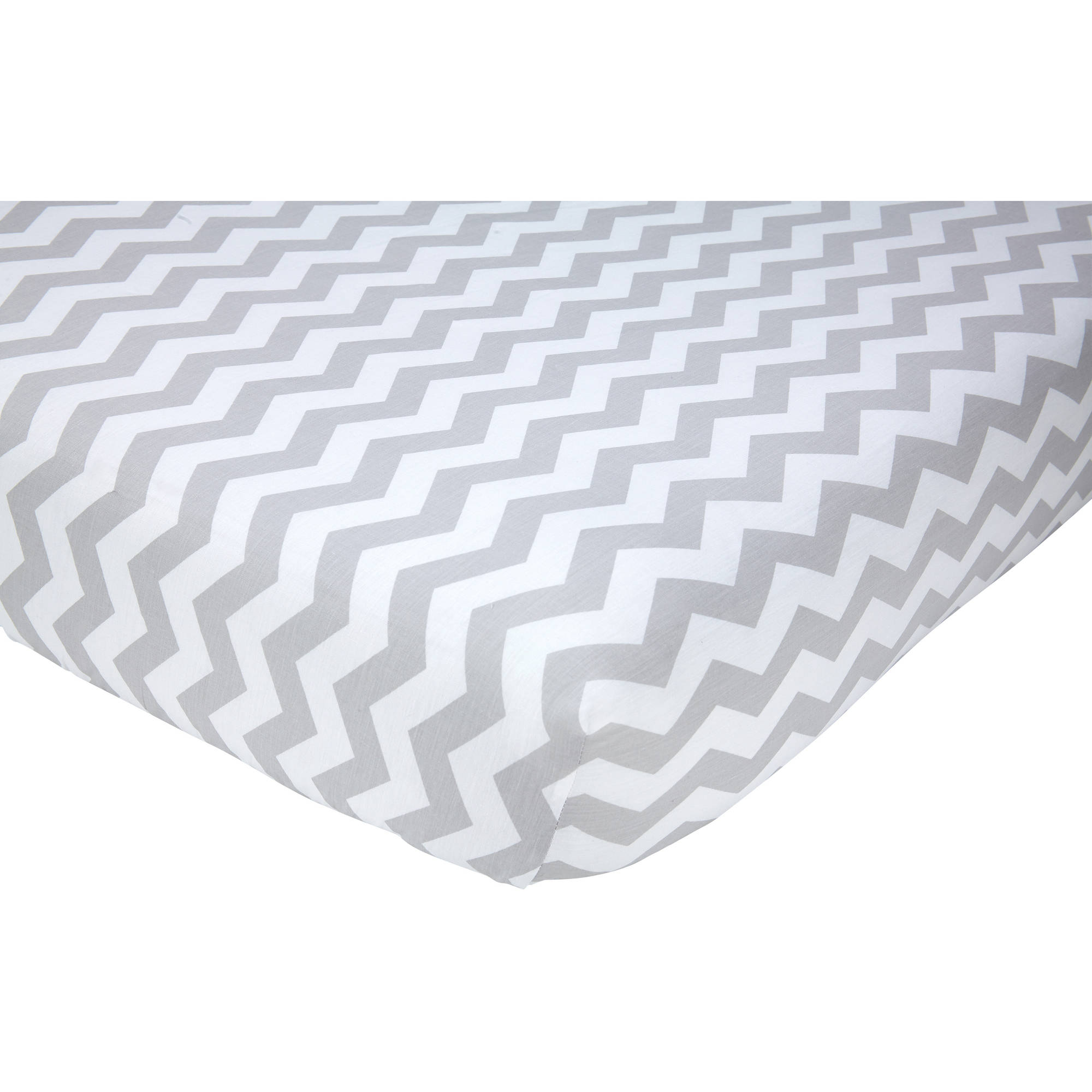 Nojo® Little Love Grey Chevron Crib Sheet