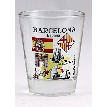 Barcelona Spain Great Spanish Cities Collection Shot Glass - City Shot Glasses