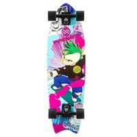 Anime 30.5-Inch Longboard Cruiser Skateboard