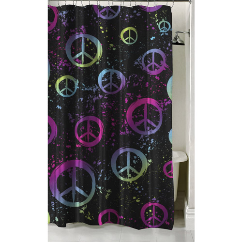 "Latitude Peace Paint Shower Curtain, 70"" x 72"""