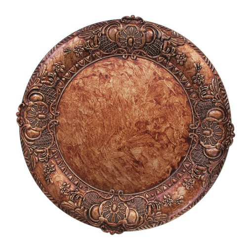 ChargeIt! by Jay 14'' Copper Embossed Charger (Set of 4)
