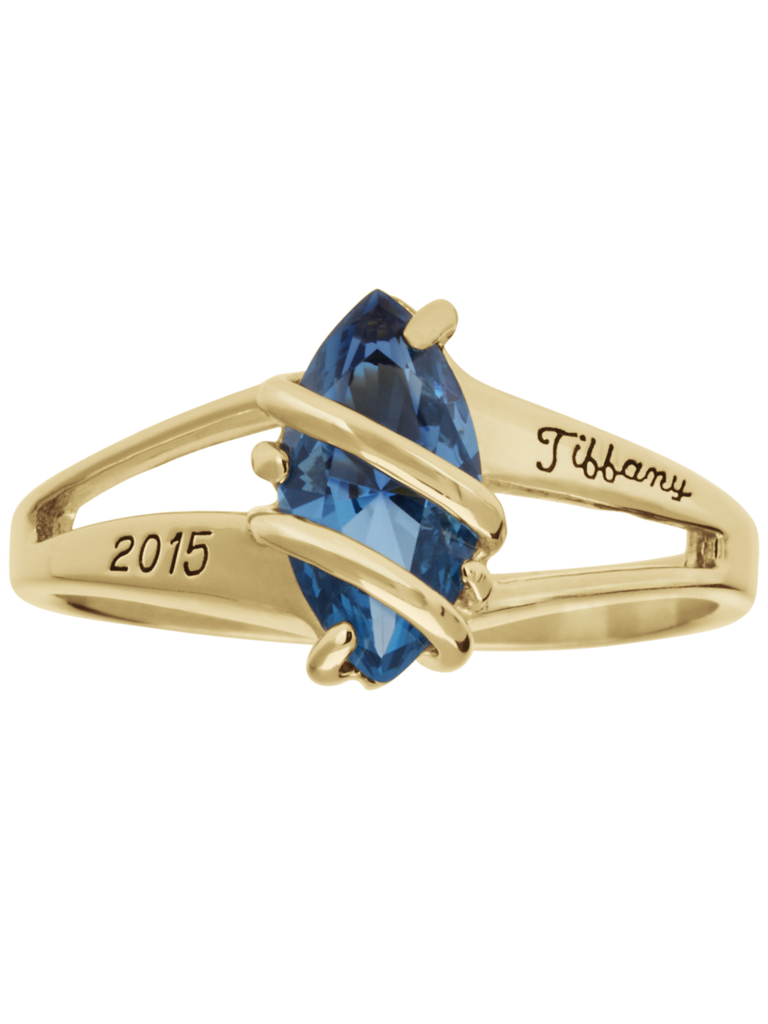 Keepsake Personalized Family Jewelry Women's Mystique Class Ring available in Valadium, Silver Plus, 10kt Yellow Gold