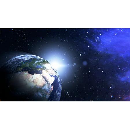 Canvas Print Terrestrial Globe TER Planisphere Globe Europe Stretched Canvas 10 x 14 ()