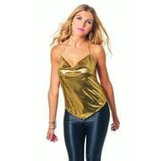 Disco Gold Womens Adult 70s Diva Dancer Halloween Costume Top