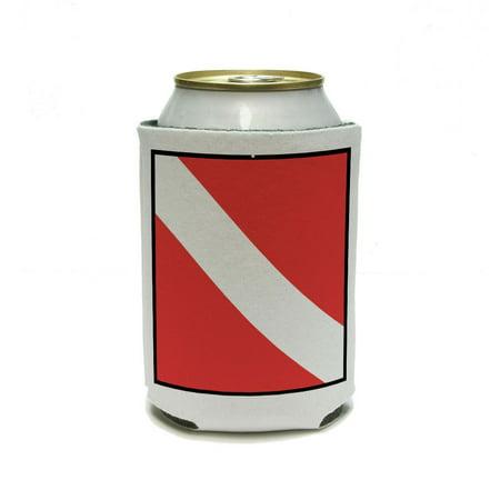 - Scuba Diver Flag Can Cooler Drink Insulator Beverage Insulated Holder