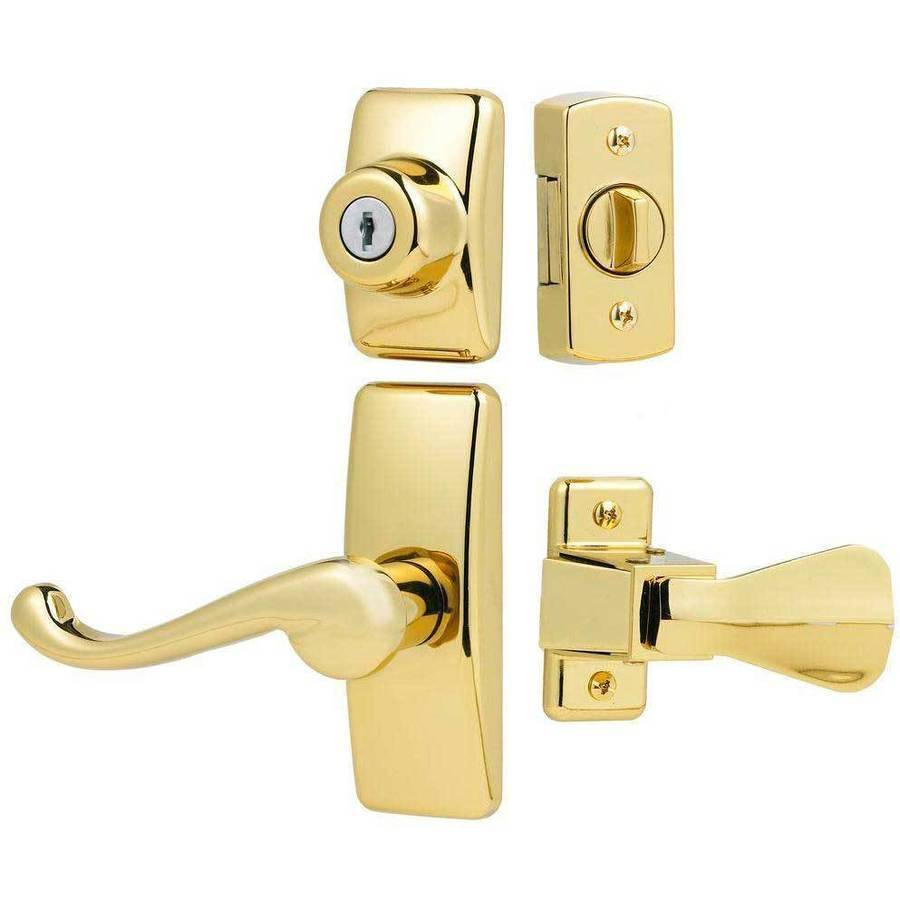 Ideal Deluxe Storm and Screen Door Lever Handle and Keyed Deadbolt