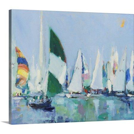 Great Big Canvas Curt Crain Premium Thick Wrap Canvas Entitled Parking Lot