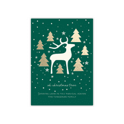 Personalized Holiday Card - Modern Deer - 5 x 7 Flat