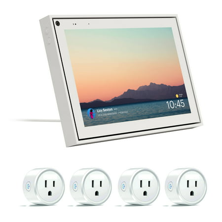 Facebook 8 Inch White Mini Portal with Smart Sockets