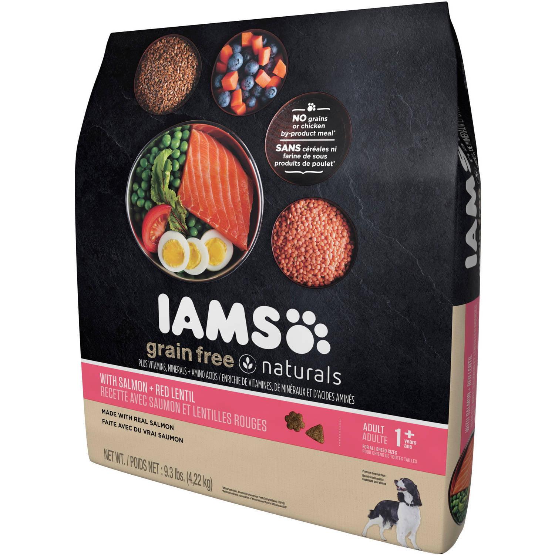 Iams Grain-Free Naturals Salmon and Red Lentils Dry Dog Food, 9.3 lb -  Walmart.com