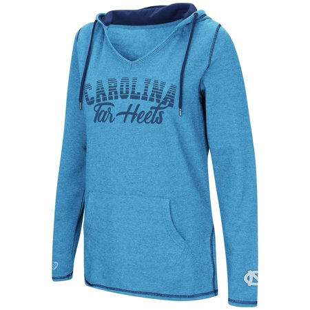 - North Carolina Tarheels UNC Ladies V-Neck Hoodie Pullover Sweatshirt
