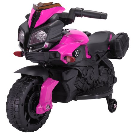 Jaxpety 6V Kids Ride On Motorcycle Battery Bicycle Electric Toy New Pink - Halloween Bike Ride Dc