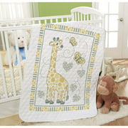 Baby by Herrschners® Pre-Quilted Giraffe Spots Baby Quilt Stamped Cross-Stitch Kit