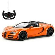 Bisontec 1:14 RC Bugatti Veyron Grand Sport Vitesse Car (Orange) BTV14O Car SUV