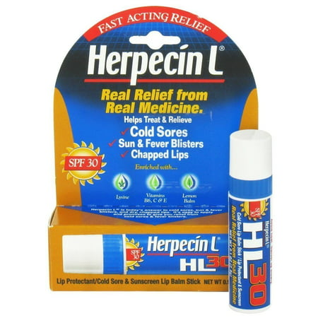 2 Pk Herpecin-L LIP BALM STICK SPF 30 Protectant Sunscreen cold sore .10oz (Best Way To Cure A Cold Sore On Lip)