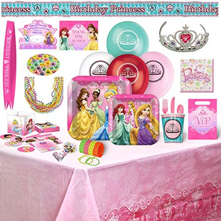 Disney Princess Birthday Party Supplies & Decorations - 8 Guests (178) Pieces - Princess Theme Decorations