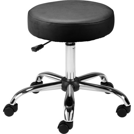 Lorell Backless Pneumatic Height Stool, Black