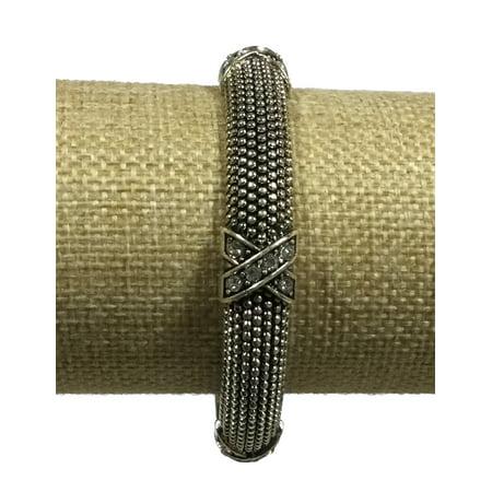 Candy Stretch Bracelet (Arm Candy Silver Dotty X Stretch Bangle Bracelet)