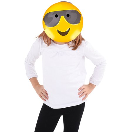Pig Face Mask Emoji (Texting Emoticon Emoji Sunglasses Face Mask Costume)