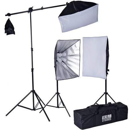 BalsaCircle Photography Video Studio Umbrella Continuous Lighting Kit with Arm Softbox Portarit Photo Shooting Production Equipment
