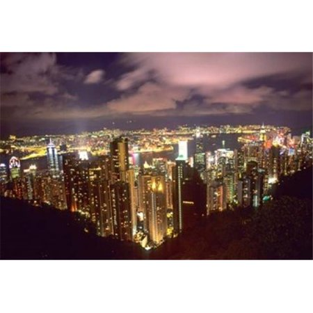 Posterazzi PDDAS09BBA0005 Hong Kong Skyline From Victoria Mountain China Poster Print by Bill Bachmann Danitadelimont - 37 x 25 in. - image 1 de 1