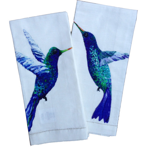My Island Hummingbird Tea Towels (Set of 2)