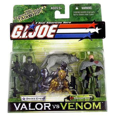 GI Joe Valor vs. Venom Snake Eyes & Swamp Rat Action Figure (World War 2 Gi Joe Action Figures)